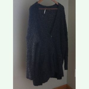 Free People Front Button Long Sleeve Cardigan Cozy